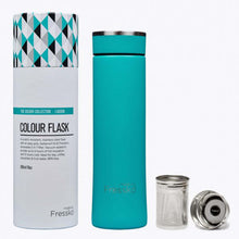 Reusable Stainless Steel Tea Infuser Flask in Teal