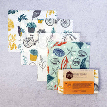 Selection of organic beeswax wrap designs.