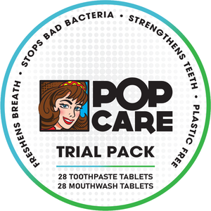 Pop Care Toothpaste and Mouth Wash Tablets - Trial Pack.