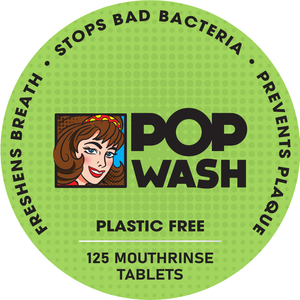 Pop Wash Mouth Rinse Tablets.