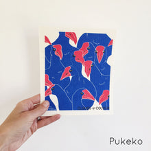 Dish cloth with pukeko design.