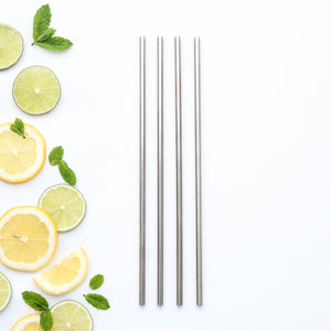 Reusable Stainless Steel Tall Straws.