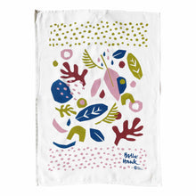 Tea towel in spring art design.