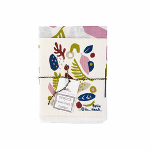 Tea towel and dish cloth set in Spring art design.