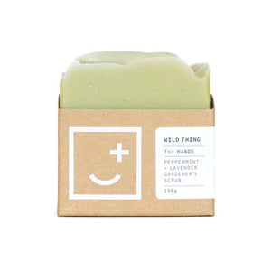 Wild Thing - peppermint and lavender gardener's scrub soap bar. Made in New Zealand.