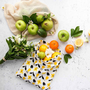 Yellow Flower Produce Bag with Fruit