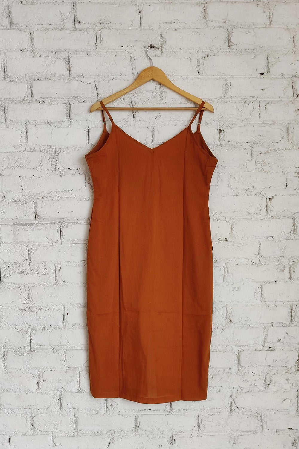 Mustard Ease Slip Dress