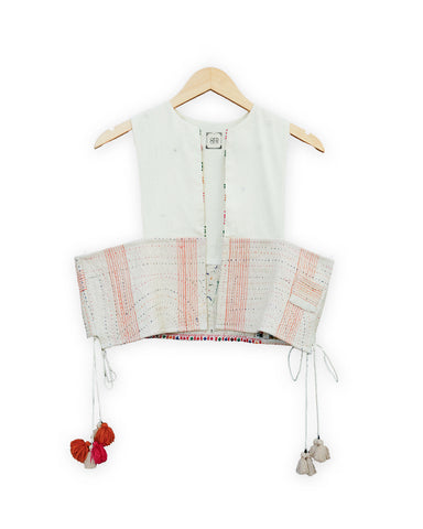 OFR Vintage Bolero V1- Psyflora White/ One of a kind