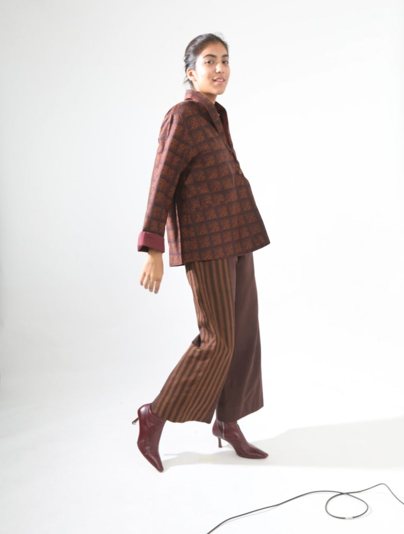 Brown - Eyed Tile Jacket