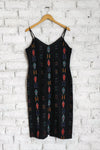 Sky Glow Slip Dress with Prism Beadwork