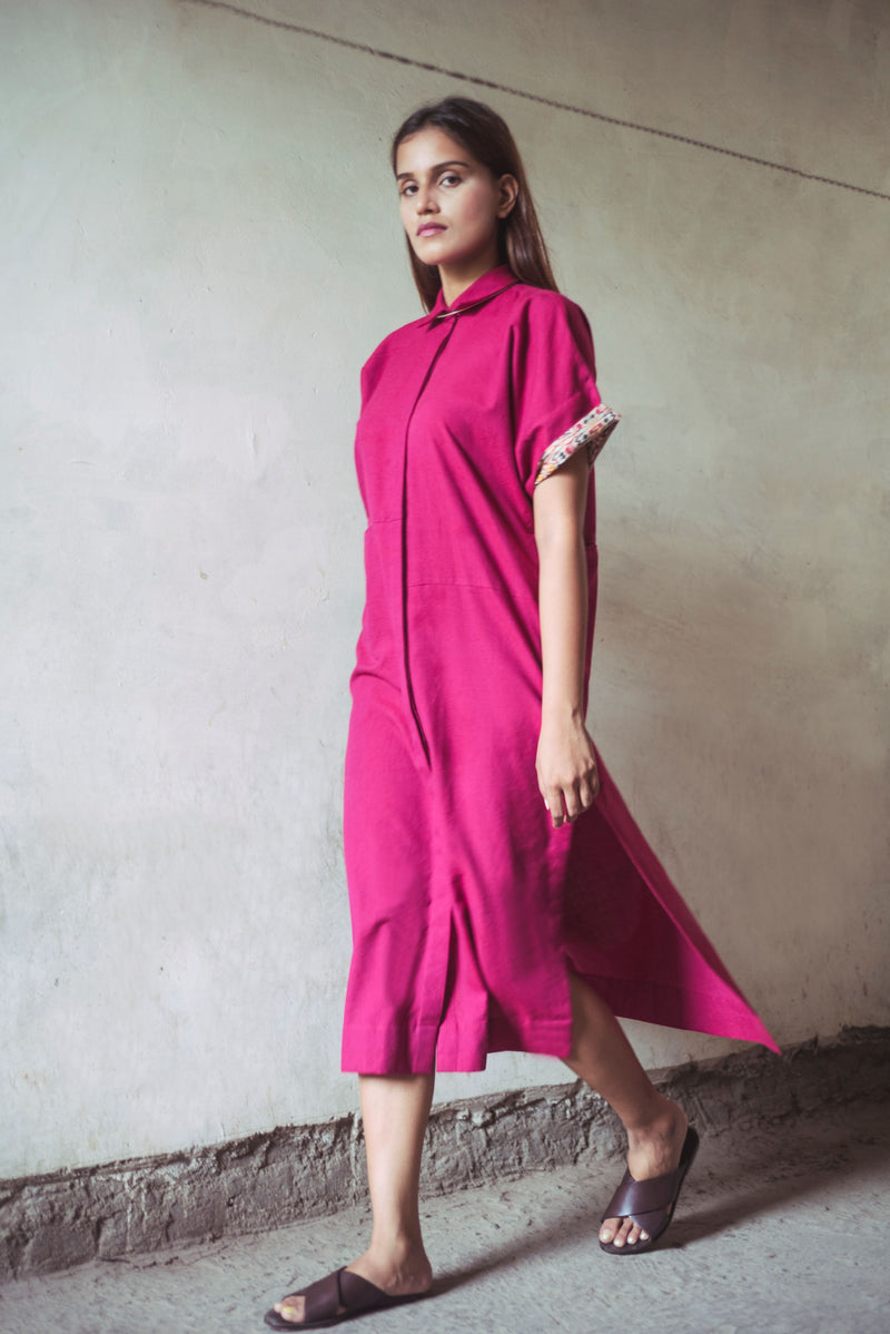 Light Box Dress / Overlay  - Rouge Pink