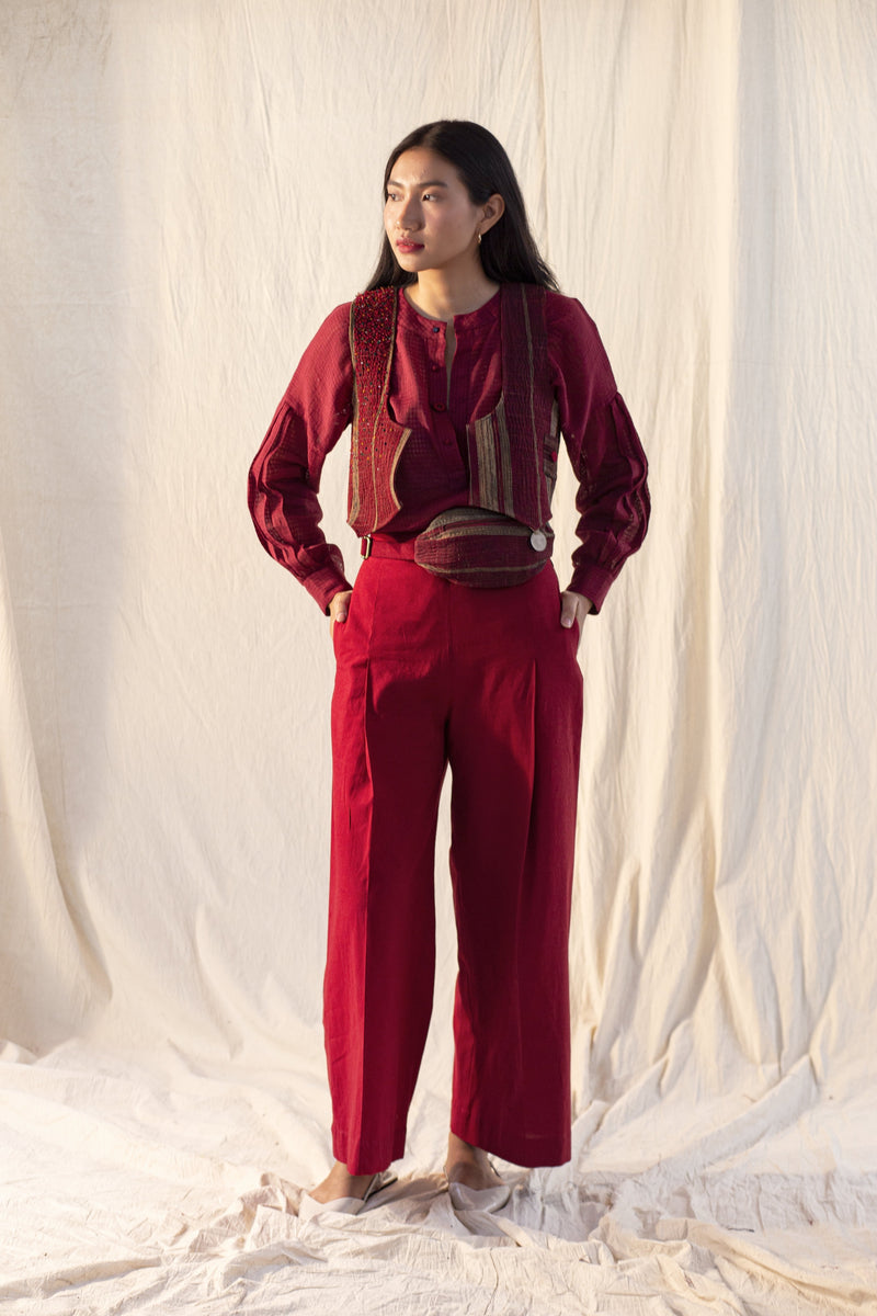 Red Rift Wide-leg pants