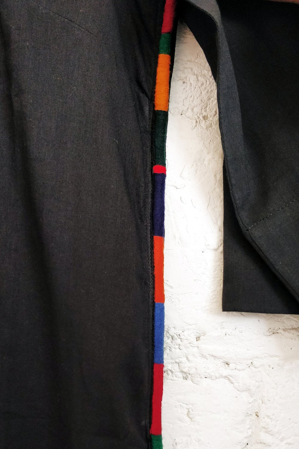 Black Whole Kurta