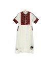 Asym Full Circle Dress with Prism Beadwork