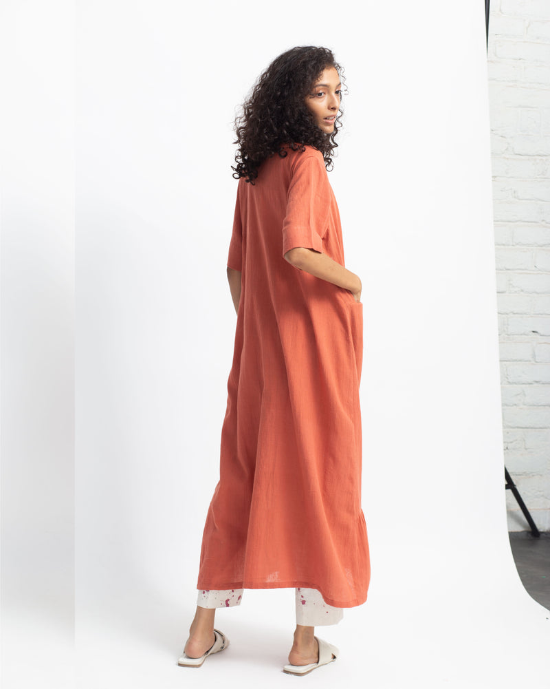 Rust Tier Dress Set