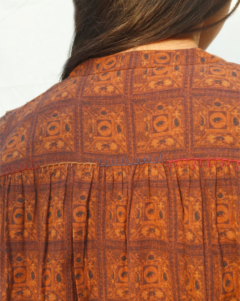 Brown - Eyed Tile Shirt