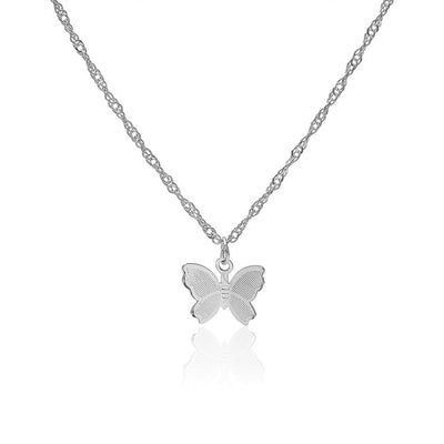 Vintage Butterfly Pendant With Chain