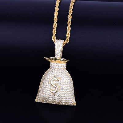 Money Bag Pendant With Chain