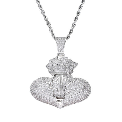 Money Filled Heart With Chain