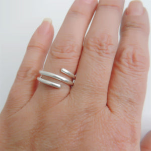 Sterling Silver Coil Ring Simple Band Wrap Ring Minimalist Jewelry
