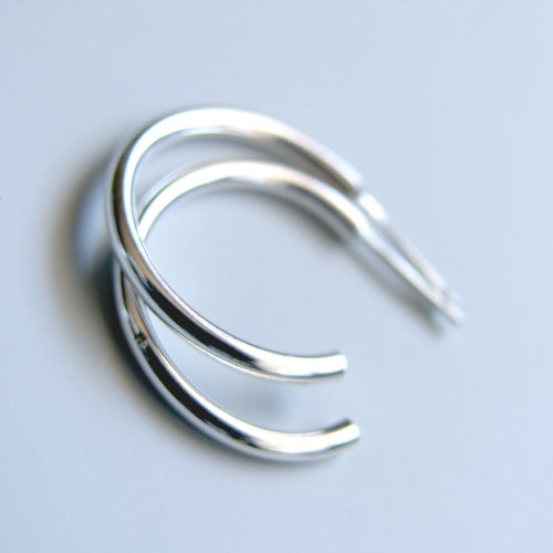 Sterling Silver Hoops Classic 1 inch Stud Hoop Earrings Silver Studs