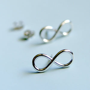 Infinity Symbol Earrings Sterling Silver Infinity Sign Stud Earrings Silver Studs