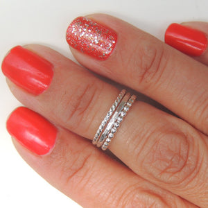 Above the Knuckle Ring Midi Ring Sterling Silver Twisted Band