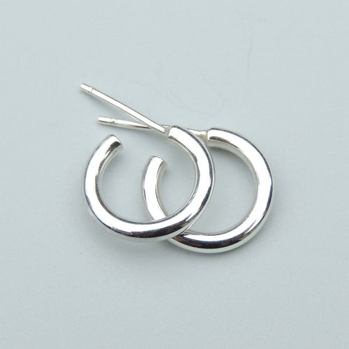 Sterling Silver Hoops Extra Small Classic Stud Earrings 10mm Silver Studs