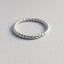 Sterling Silver Twisted Band Simple Sterling Silver Stacking Ring