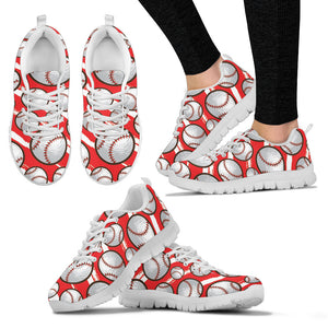 Red Baseball Women Sneakers
