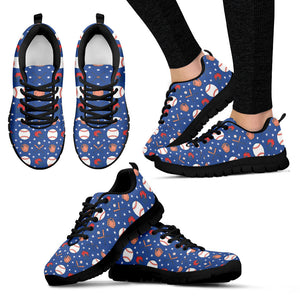 Blue Baseball Women Sneakers
