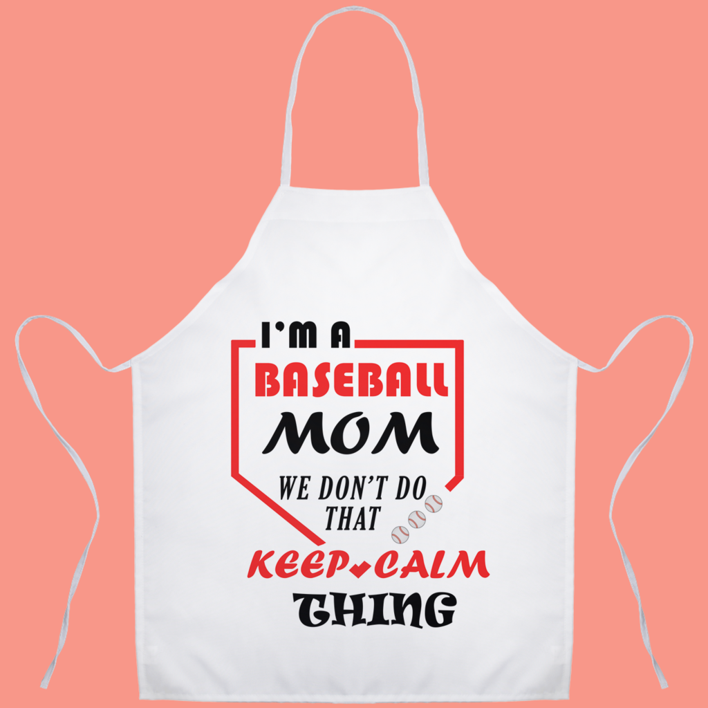 Keep Calm Baseball Mom Aprons
