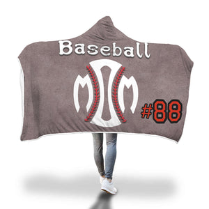 Personalized Baseball Mom Hooded Blanket