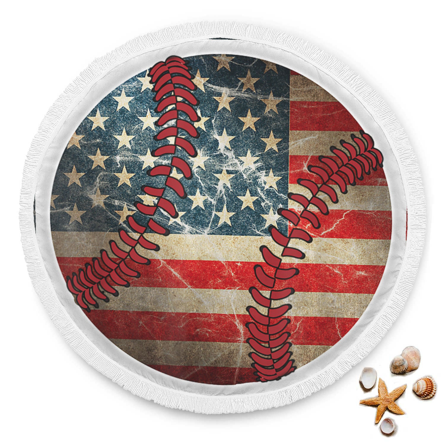 Flag USA Baseball Beach Blanket