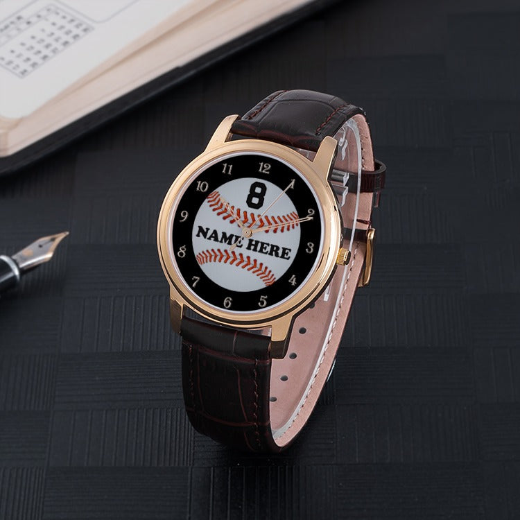 Personalized Baseball Quartz Watch
