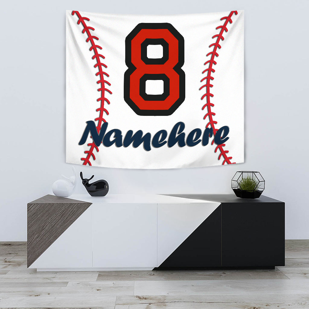 Personalize Name Baseball Tapestry