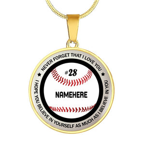 Personalized Believe In You Baseball Jewelry With Name And Number