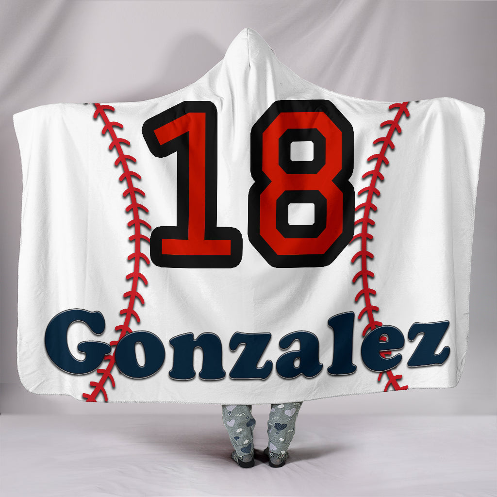 draft personalized hooded blanket 6645