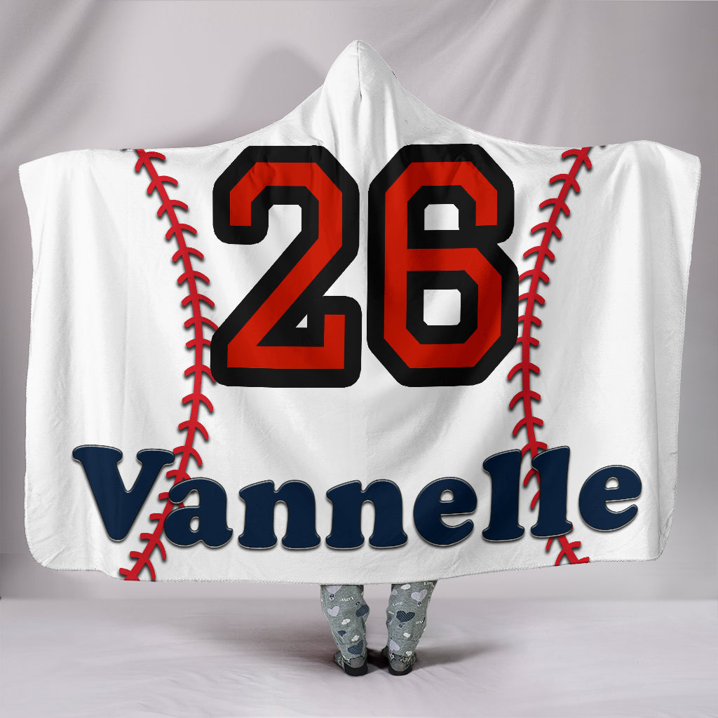 draft personalized hooded blanket 6206