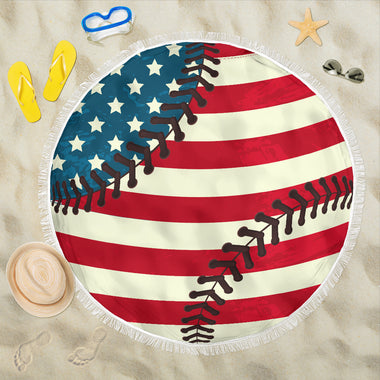 Baseball Flag Beach Blanket