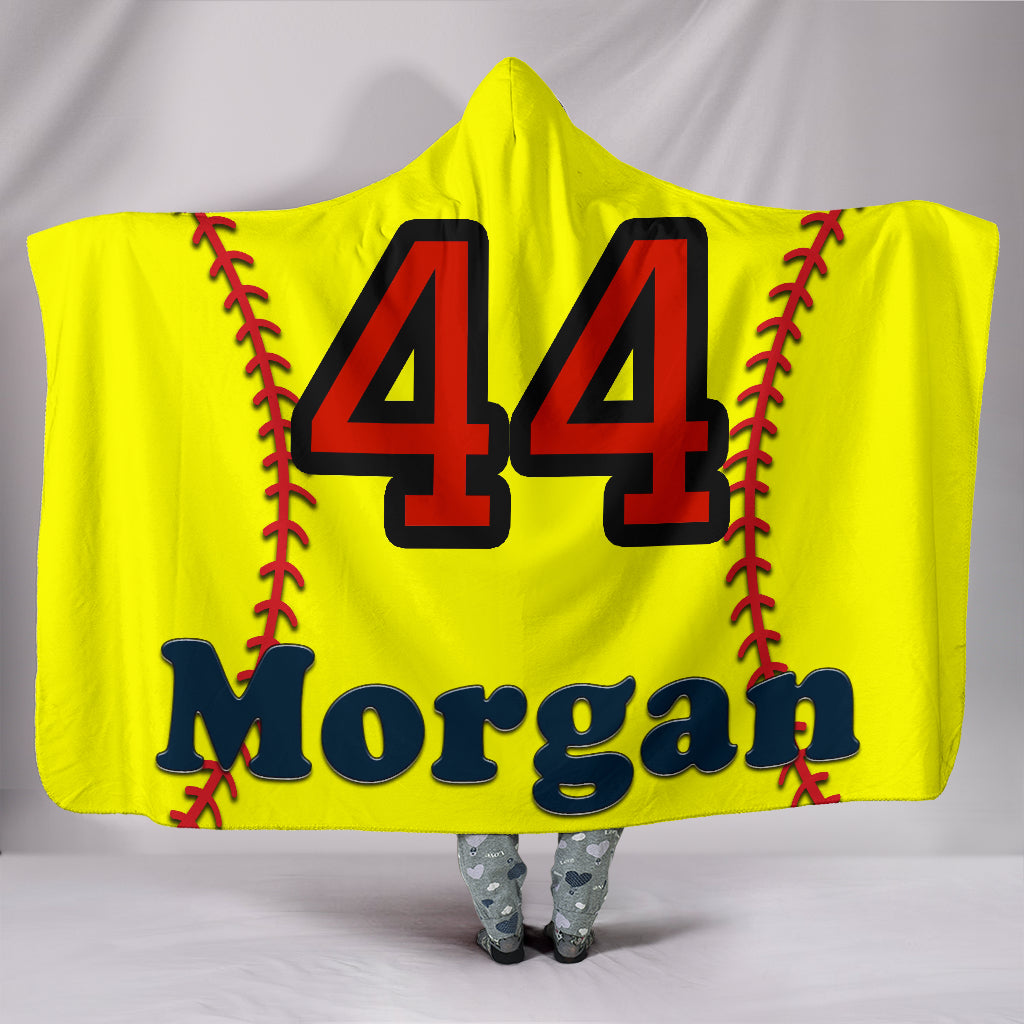 draft personalized hooded blanket 6508