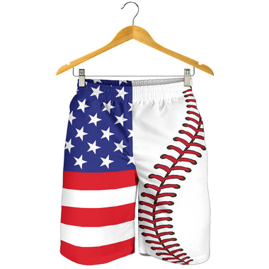 Baseball USA Flag Men Shorts