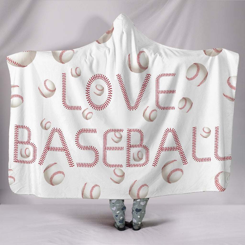 Love Baseball Hooded Blanket