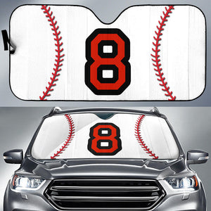 Personalized Number Baseball Auto Sun Shades