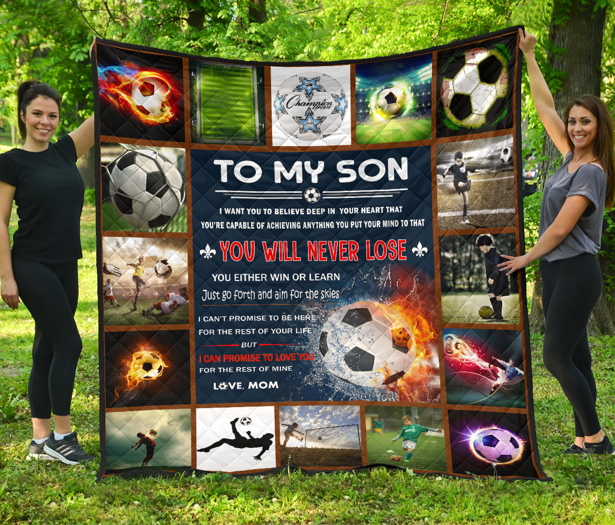 Soccer Love Son Mom Quilt