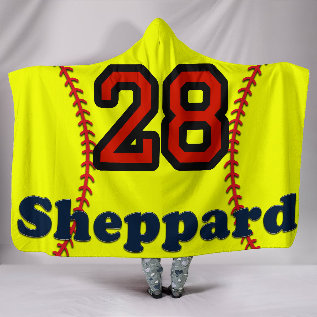 draft personalized hooded blanket 5740