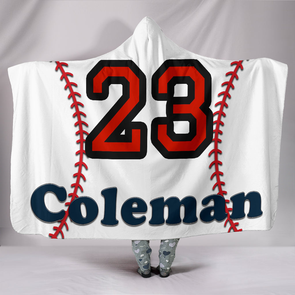 draft personalized hooded blanket 6605