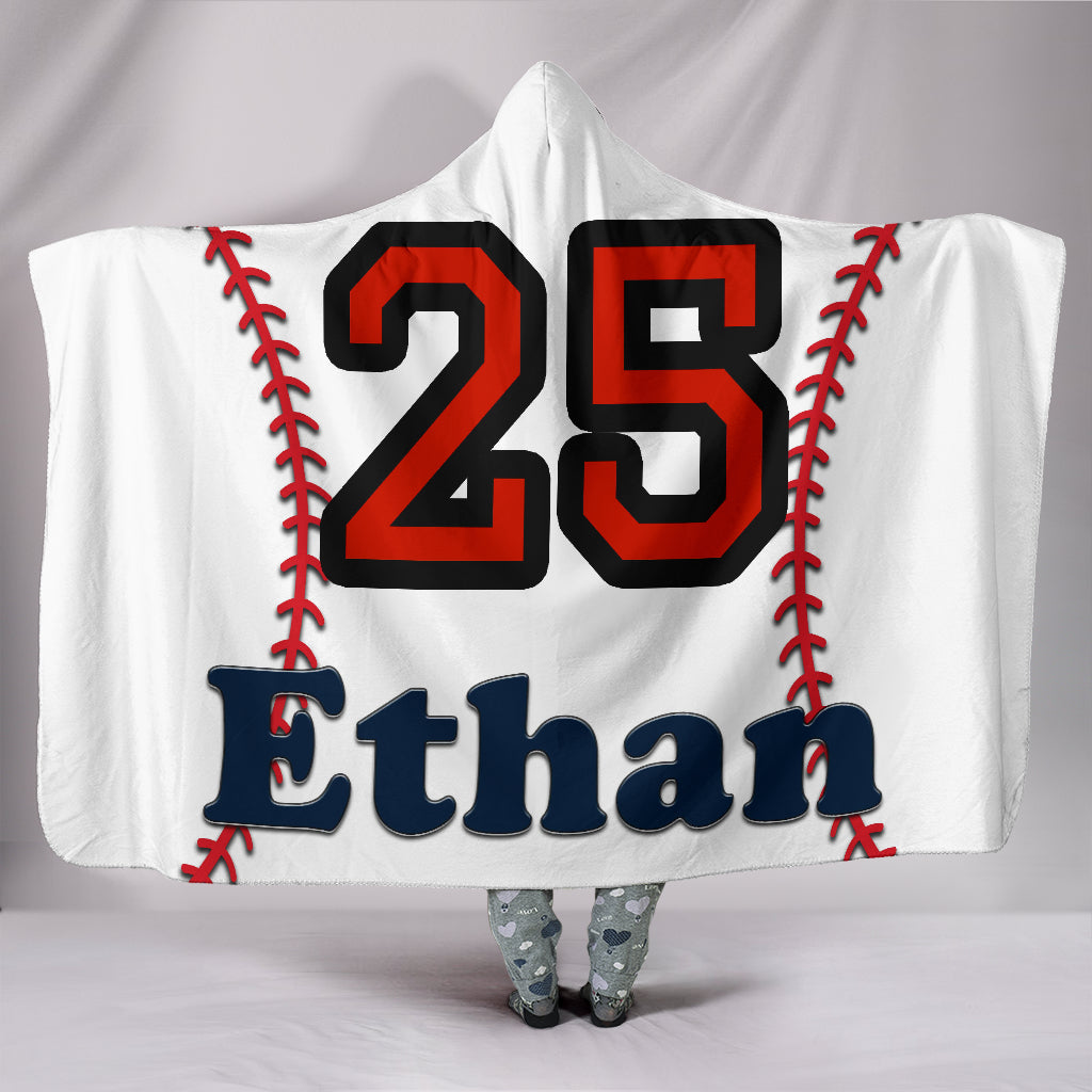 draft personalized hooded blanket 6086