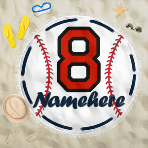 Personalize Name Baseball Blanket
