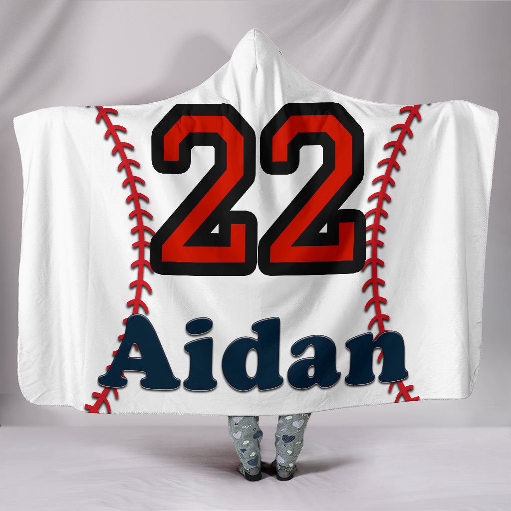 draft personalized hooded blanket 6925